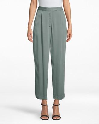 Nicole Miller Satin Back Crepe Trouser Pant