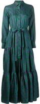 La DoubleJ abstract print shirt dress