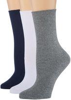 BERKSHIRE FASHIONS Berkshire Fashions 3 Pair Crew Socks - Womens