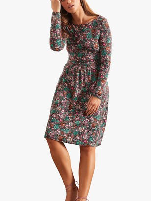 Boden Abigail Floral Print Jersey Dress, Multi