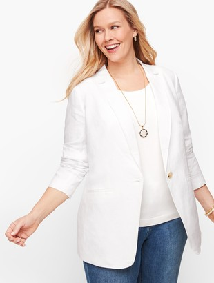 Talbots Classic Linen Blazer - White