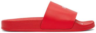 Off-White Red Logo Pool Slides