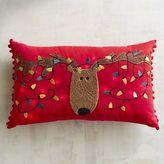 Pier 1 Imports Light-Up Reindeer Lumbar Pillow