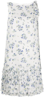 Be Blumarine Floral-Print Ruffled Dress