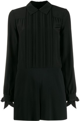 RED Valentino Pleated Details Playsuit
