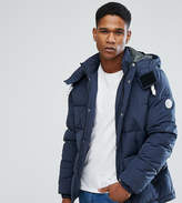 Jack and Jones Originals Quilted Parka With Removable Hood