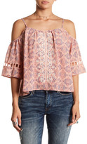 Jolt Printed Embroidered Blouse