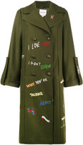 Mira Mikati Military Peacoat With Embroidery