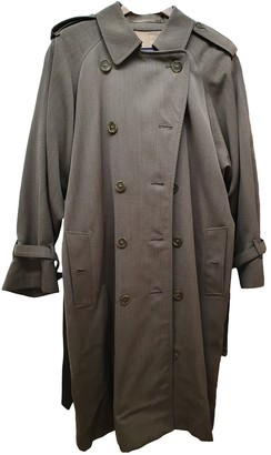 Burberry Anthracite Wool Coat for Women Vintage