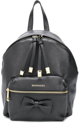 MonnaLisa Logo-Print Zipped Backpack