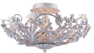"Viv + Rae Alta 6 - Light 16"" Chandelier Style Geometric LED Semi Flush Mount Finish: Antique White"