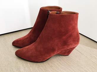 Anonymous Copenhagen - Rust Red Niva Low Boots - 37 | suede leather | rust red - Rust red