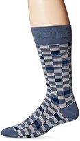 HUGO BOSS Men's Rs Design Checked Crew Socks