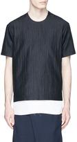 FFIXXED STUDIOS 'Daniel' raw lining stripe dobby T-shirt