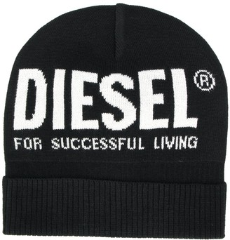 Diesel Contrast Logo Beanie