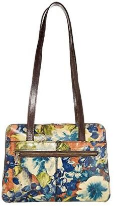 Patricia Nash Dauphine Satchel (Blue Clay/Floral) Handbags