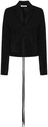 Supriya Lele Ruched Detail Tie Fastening Jacket