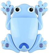 Oksale® Cartoon Frog Powerful Wall Suction Hook Bathroom Organizer Toothbrush and Toothpaste Holder Mount Set with Sucker (Sky Blue)