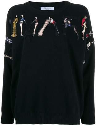 Blumarine ladies embroidered jumper