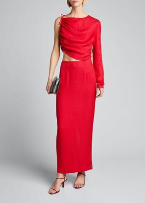 MATÉRIEL Leo One-Shoulder Cutout Dress