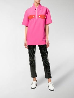 Calvin Klein Zip Front Oversized Top