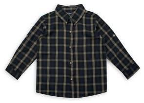 Nannette Baby Boy's Little Rebels Roll-Tab Plaid Shirt