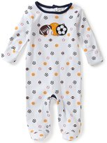 Starting Out Baby Boys Newborn-6 Months Sports Footed Coverall