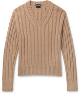 TOM FORD - Slim-Fit Ribbed Wool-Blend Sweater