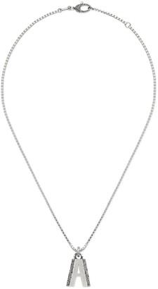 "Gucci Silver ""A"" letter necklace"