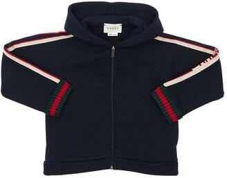 Gucci Logo Bands Cotton Sweatshirt Hoodie