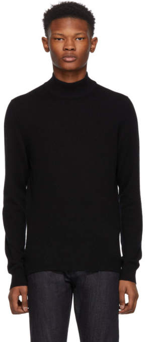 Bottega Veneta Black Cashmere Mock Neck Sweater