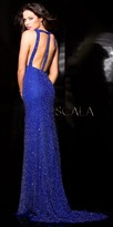 Scala Racer Back with Cut Out Evening Gown