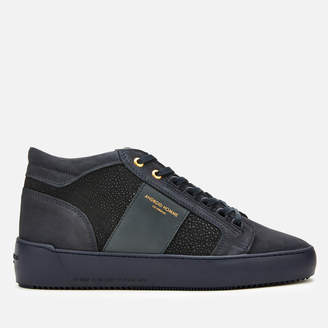 Android Men's Propulsion Mid Geo Trainers - Navy Stingray Suede