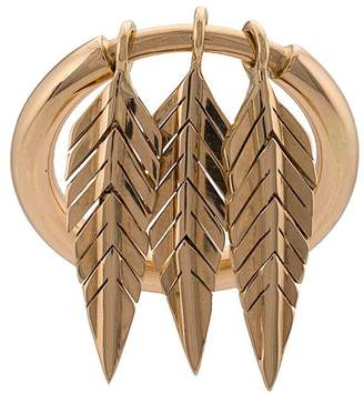 Cadar 18kt yellow gold three feather ring