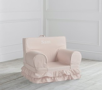 Pottery Barn Kids My First Dusty Blush Ruffle Anywhere Chair Slipcover Only