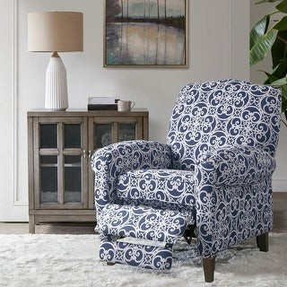 Madison Home USA Oscar Navy Push Back Recliner