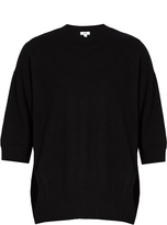 Vince Short-sleeved cashmere-blend sweater