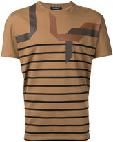 Neil Barrett striped T-shirt - men - Cotton - XS