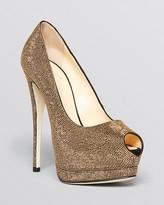 Giuseppe Zanotti Peep Toe Platform Pumps - Sharon Studded High Heel