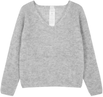 MAX MARA LEISURE Nord Grey Mohair-blend Jumper