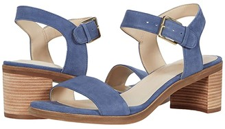 Cole Haan Anette Sandal (55 mm) (Vintage Indigo Suede Dark Natural Raw Stack) Women's Shoes