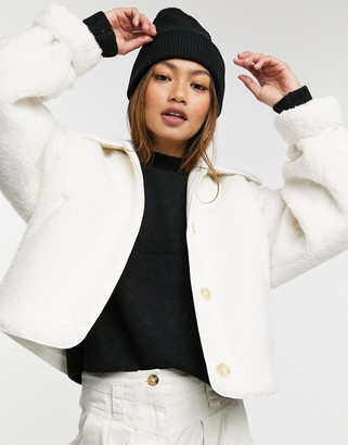 And other stories & wool blend jacket in off white