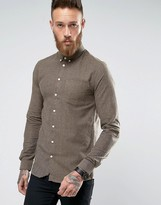 Minimum Fleck Shirt In Regular Fit In Beige