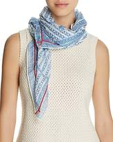 Aqua Geo Square Scarf - 100% Exclusive
