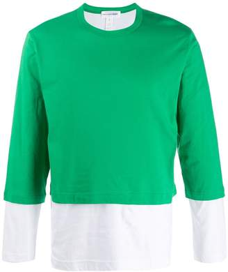 Comme des Garcons layered long-sleeve top
