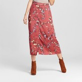 Xhilaration Women's Button-Front Skort Rust Juniors')