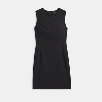 Theory Sleeveless Fitted Dress in Good Wool