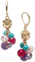 lonna & lilly Gold-Tone Beaded Shaky Drop Earrings