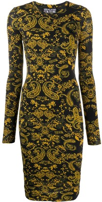 Versace Paisley-Print Fitted Dress