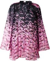 Giamba sheer flamingo print blouse - women - Silk/Polyester - 40